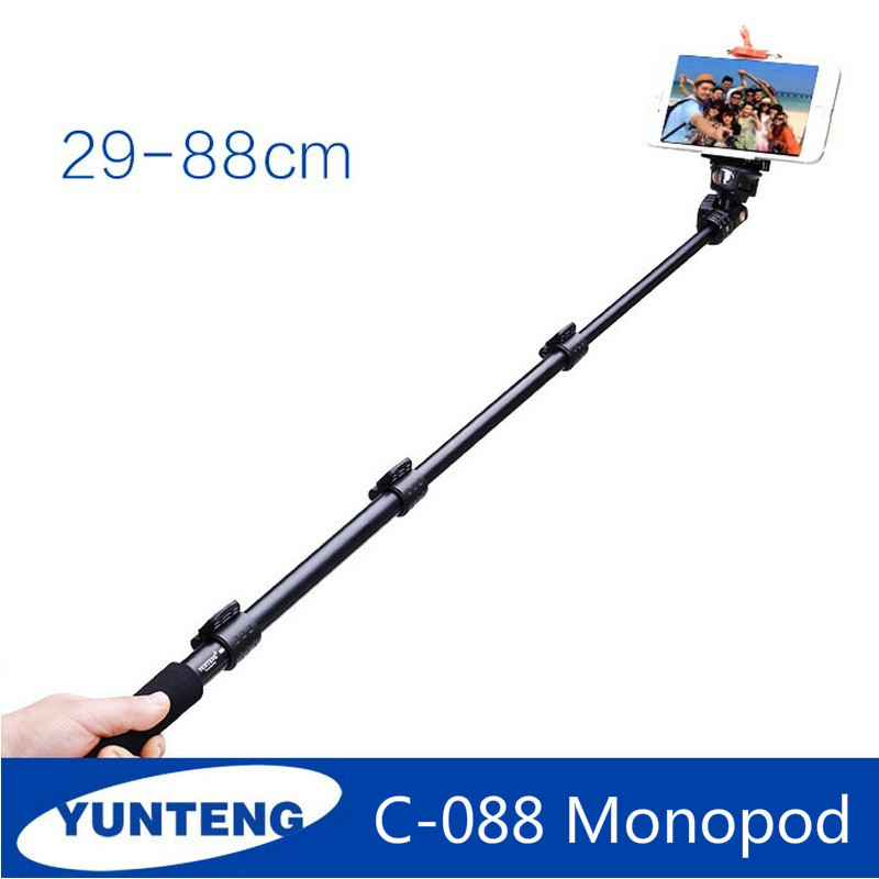 top quality yunteng 088 monopod for gopro selfie stick monopod tripod phone holder for iphone. Black Bedroom Furniture Sets. Home Design Ideas