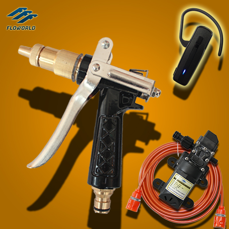 Free Shipping FLO-2 Series All Copper Water Gun High Pressure Washer 12V High Pressure Cleaner High Pressure Car Wash(China (Mainland))