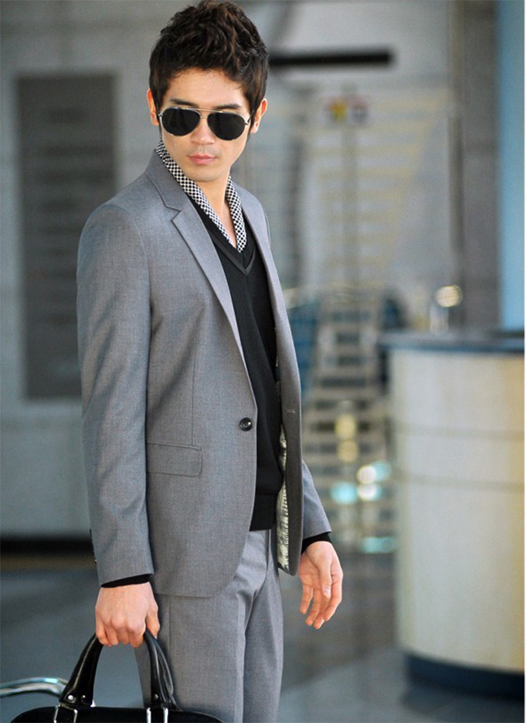 62-Free Shipping New 2015 man suit classic Fashion grooms man suits! Men's Blazer Business Slim Clothing Suit And Pants