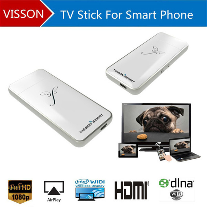 2015 Vsmart V5i Wireless Display Adaptor Support DLNA Miracast 100% Airplay Mirroring Tv Stick For phone 4s 5s ios phone Gift(China (Mainland))