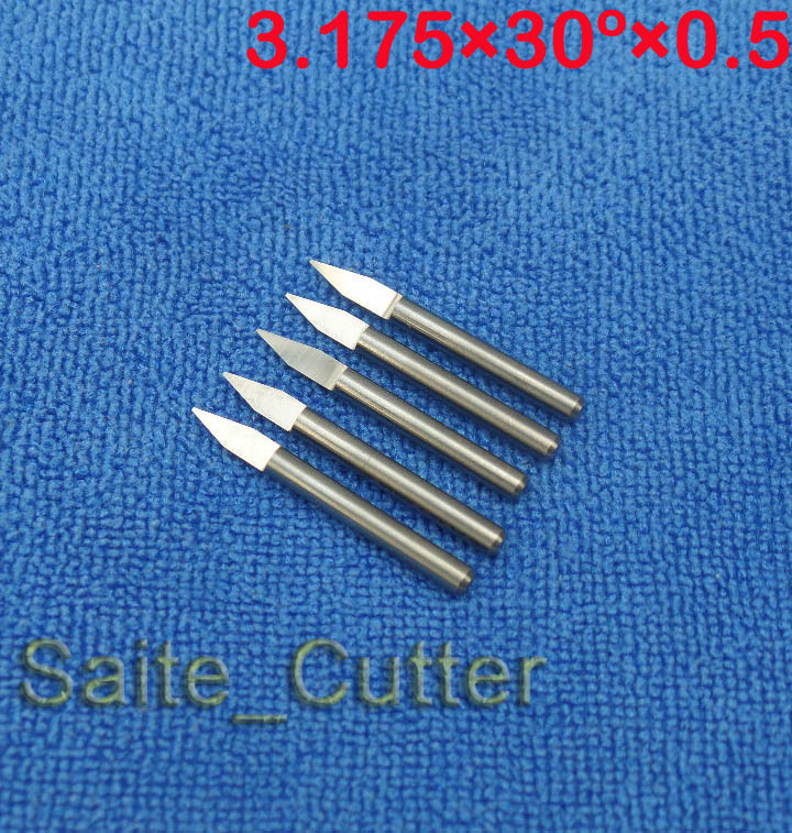 "10 pcs 30 degree 0.5mm Carbide PCB Engraving Bits Flat Bottom CNC Router Bits Tools cutting Carving Tools 1/8"" 3.175mm(China (Mainland))"