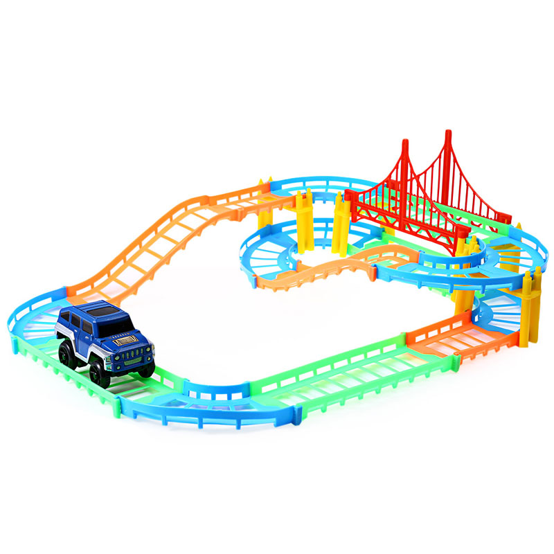 free shipping kids toys car oyuncak diy multi track rail car racing track building blocks educational toys for children selling