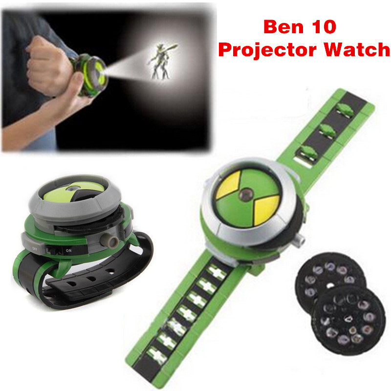 Hot ben 10 omnitrix watch Style Kids Projector Watch Japan Genuine Ben 10 Watch Toy Ben10 Projector Medium Support Drop SHIPPING(China (Mainland))