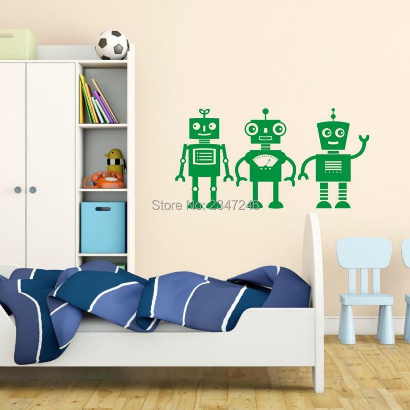 Online kopen wholesale robot muurstickers uit china robot muurstickers groothandel - Jongen kamer decoratie idee ...