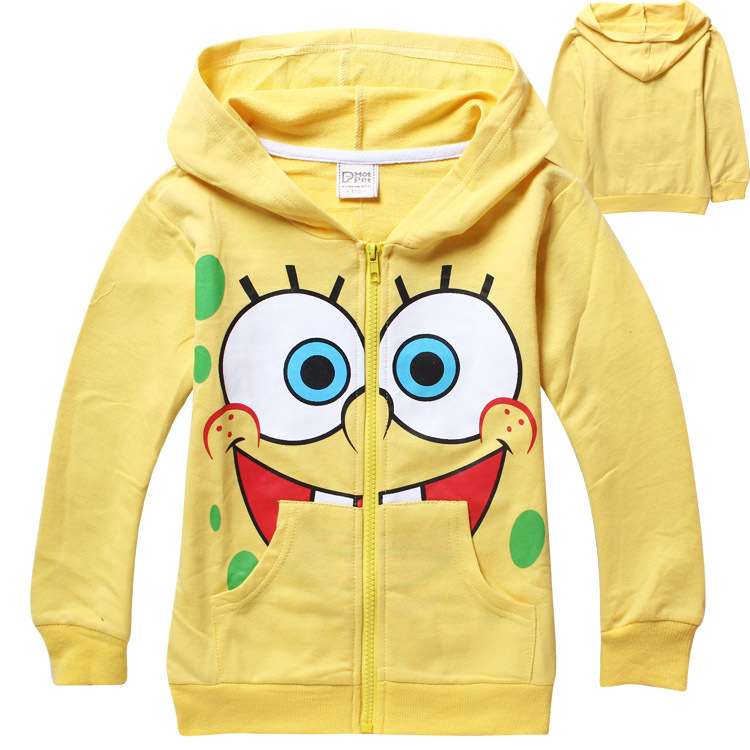 2015 New Baby Girls Hoodies Long Sleeve Cotton Hoody Cartoon Design Child Yellow Hoody Zipper Sports Clothes 6pcs/lot Wholesale<br><br>Aliexpress