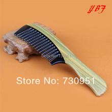 Detangling Makeup hair hairdressing tools ox horn Green sandalwood wooden handle combs Head Scalp Massager Hairbrushes(China (Mainland))