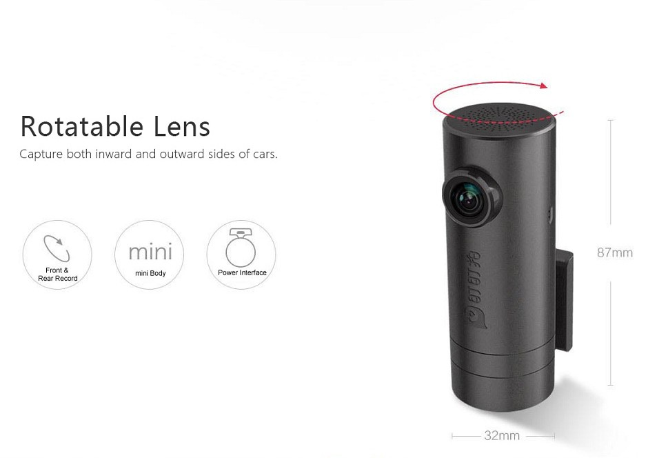 Smart Dashcam 1080P Full HD met WiFi