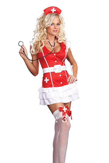 Free Shipping Red Sexy Plus Size Women Nurse Costumes For Adult Lingerie Products Toys(China (Mainland))