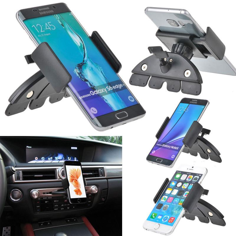 DHL 50 PCS Universal Car Auto CD Slot Mount Cradle Holder Stand for Mobile Smart Cell Phones for iphone 6 Samsun galaxy s7 edge(China (Mainland))