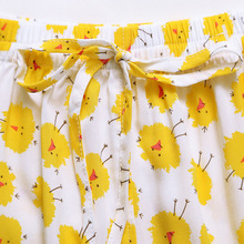 Spring and summer song Riel fashion printed cute and comfortable short sleeved pajamas tracksuit suit Ms