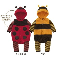 Baby Rompers Cartoon Bee pajamas & One-Pieces Flee Fleece hot sale Children jumpsuit Wholesale 4pcs/lot free shipping(China (Mainland))