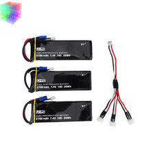 Hubsan H501S lipo battery 7.4V 2700mAh 10C Batteies 3pcs with cable for Hubsan H501C rc Quadcopter Airplane drone Spare Parts