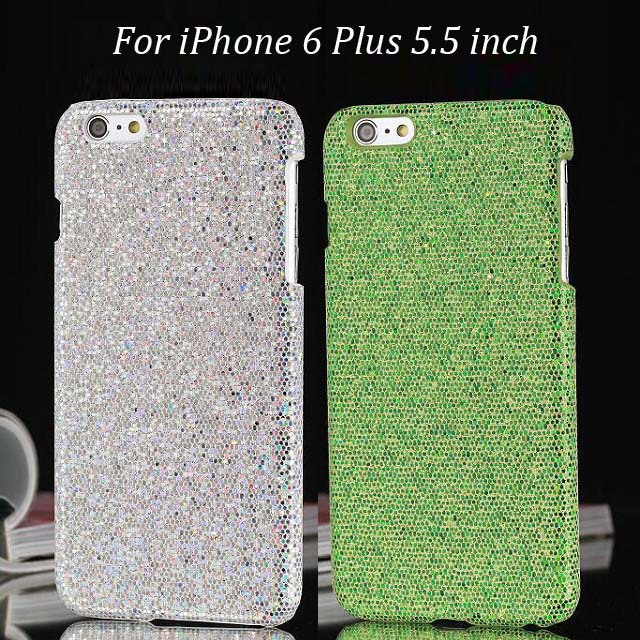 30pcs/lot Free Shipping Bling Sand Hard Back Case For iPhone 6 Plus 5.5 inch(China (Mainland))
