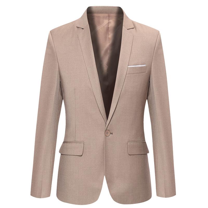 Elegant Khaki Blazer Men Suit Jacket 2016 New Arrival Mens ...