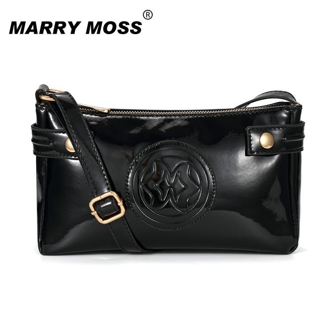 Women ajs bag shoulder handbags japanned leather patent leather oil skin PU jelly handbag Fashion famous brands designer 6616(China (Mainland))