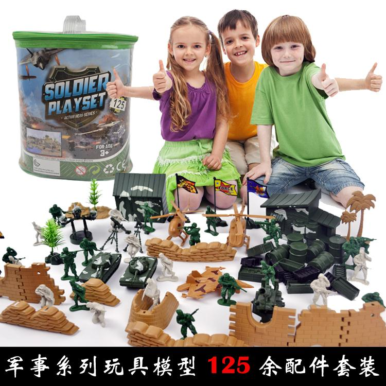 125pcs troopers military model kits Army Corps soldiers who childrens Playsets accessory<br><br>Aliexpress