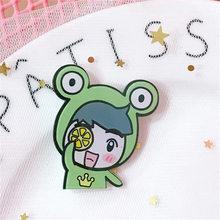 Rosa sonrisa broche sandía acrílico dibujos animados cerdo Linda zanahoria bufanda flor suéter Animal Broches hijab Broches Mujer pins(China)