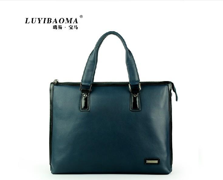 UniCalling brand men handbagEuropean and American Shoulder Guangzhou leather man bag leather man bag Mobile Messenger 2014 new 9(China (Mainland))