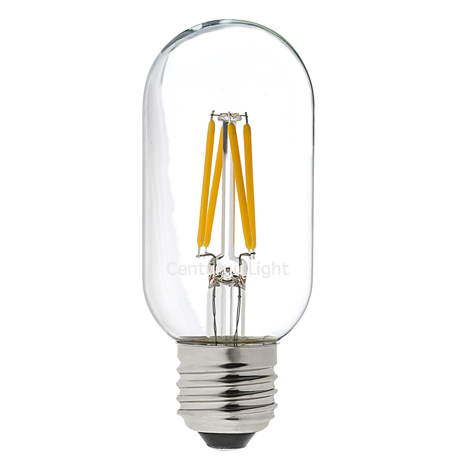 T45  LED Filament Lamp 4W E27 220V AC  2700K Replaces Up To 40W  Traditional Bulb Free Shipping<br><br>Aliexpress
