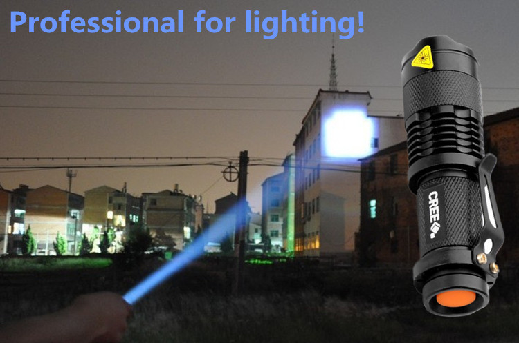 Professional LED Flashlight Supplier! High quality lantern Torch light mini LED Flashlight Zoomable Penlight Lanterna(China (Mainland))