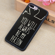 Greys Anatomy quotes Printed Soft Rubber Mobile Phone Case OEM For iPhone 6 6S Plus 7 7 Plus 5 5S 5C SE 4 4S Back Cover Shell(China (Mainland))