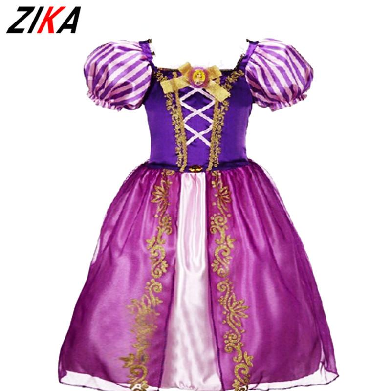 ZIKA2-9Years Princess Girls Cinderella Dress Children Clothing Rapunzel Aurora Kids Cosplay Costume Masquerade Ball Gowns ForKid(China (Mainland))