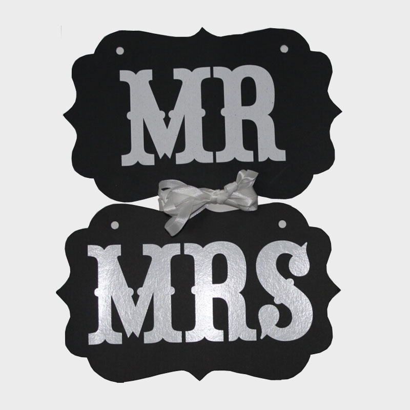 2015 1Set Wedding Mr Mrs Photo Booth Signs Party Decorations Props Birthday Favor - eren eren's store
