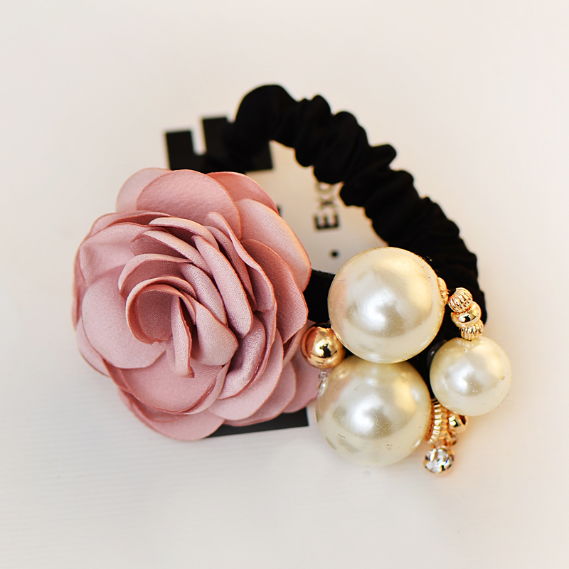 Decorative small pearl ball rhinestone HAIR TIE hairpin hair rope hair jewelry For women(China (Mainland))