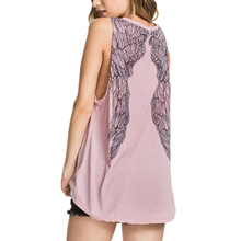 FS Hot Women Sexy Wings Printed Backless Vest Camisole Tops(China (Mainland))