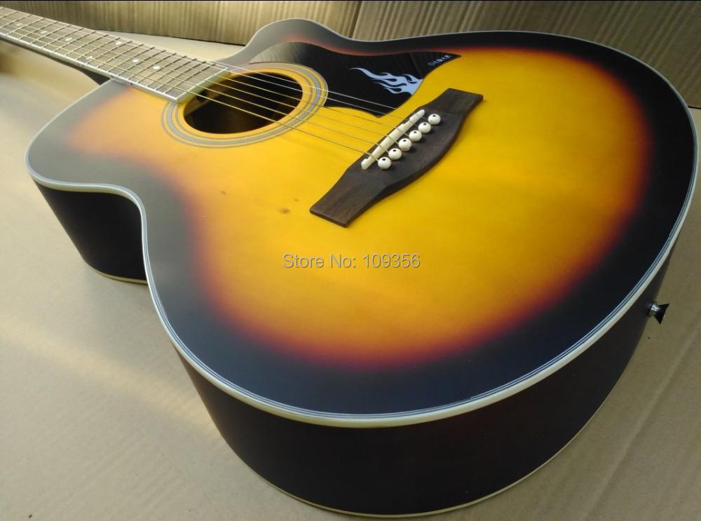 40inch sunburst folk guitar acoustic guitar good quality(China (Mainland))