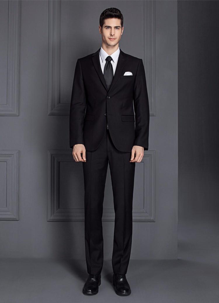 HTB1Zf4yPXXXXXchXpXXq6xXFXXXJ - 2017 Men Business Suit Slim fit Classic Male Suits Blazers Luxury Suit Men Two Buttons 2 Pieces(Suit jacket+pants)