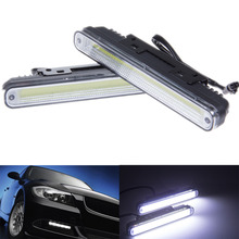 Universal Hot Ultra Bright 12W COB Daytime Running light Waterproof Day time Lights 6500K LED Car DRL Driving lamp 2pcs/lots(China (Mainland))