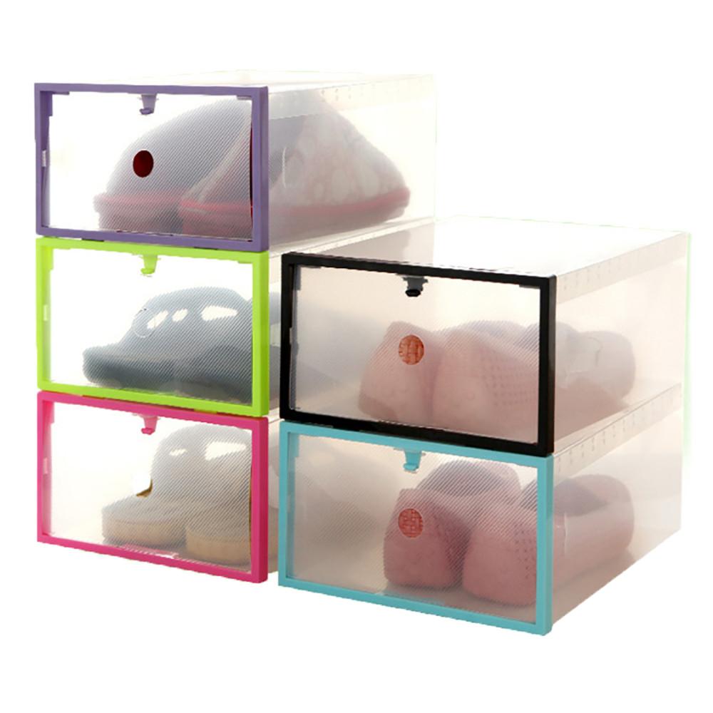 Compra caja de zapatos de pl stico online al por mayor de - Cajas transparentes para zapatos ...