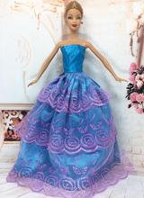 NK One Pcs 2016 Princess Wedding Dress Noble Party Gown For Barbie Doll Fashion Design Outfit Best Gift For Girl' Doll 023A(China (Mainland))