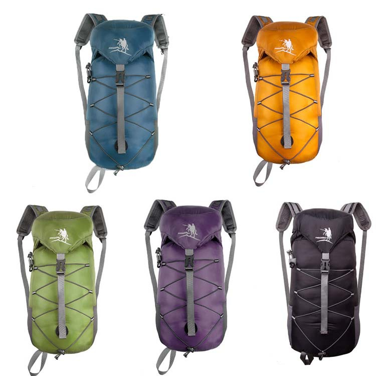 Packable Men Women Unisex Outdoor Tactical Waterproof Nylon Backpack Camping Hiking Bag folding bags(China (Mainland))