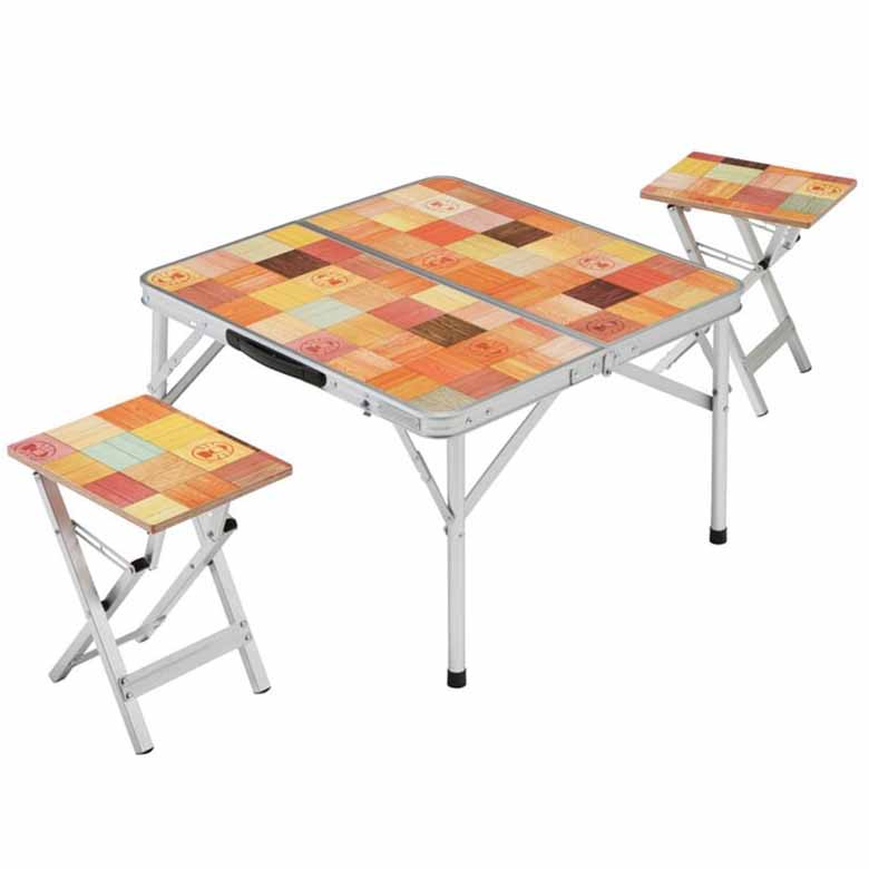 Picnic printing folding aluminum chairs outdoor camping for Small outdoor table and chairs