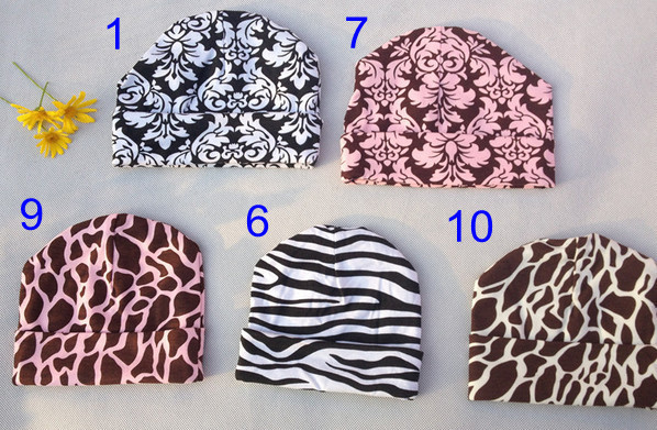 New Leopard crochet infant cotton hat boys girls Beanie earflap cap 0 to 6 months 10 colors for choose free shipping<br><br>Aliexpress