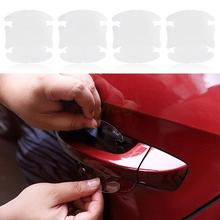 4 pcs/lot Universal Invisible Car door Handle Stickers Car Sticker Protection Protector Film Scratches Resistant Cover #HA10430(China (Mainland))