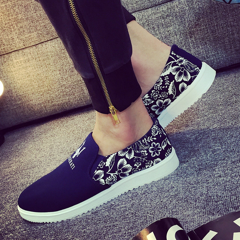 2015 Summer Flats Mans Shoes Wholesale New Brand Fashion Flat Shoes Men Canvas Shoes Loafers Espadrilles Slip On Summer Sneakers(China (Mainland))