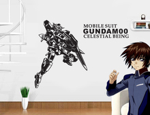 Japanese Cartoon Mobile Suit GUNDAM Vinyl Wall Decal Anime Mural Wall Sticker For Room Kid's Bedroom Home Decorative Decoration