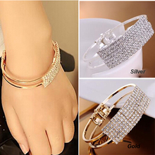 Women's fashion luxury super flash elegant all over the sky star wristband bracelet crystal bracelet(China (Mainland))