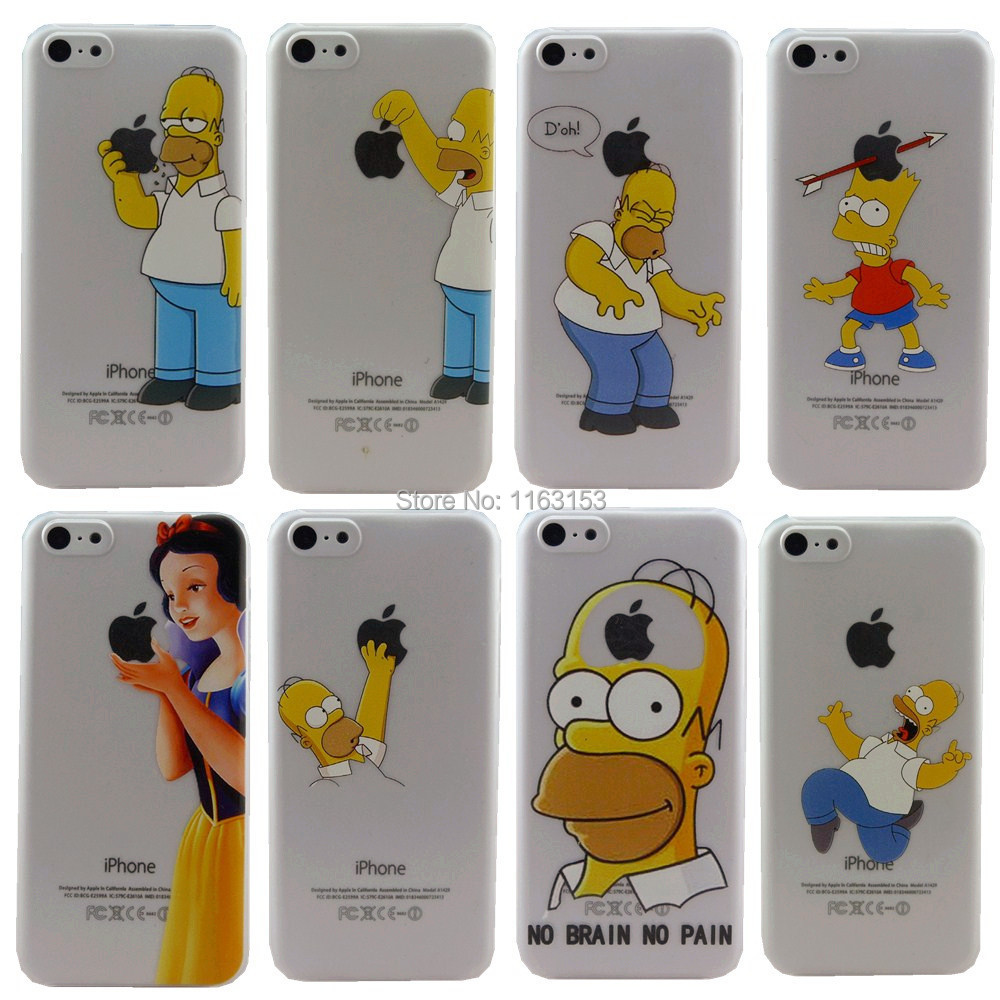 New arrival 3D painting Case for Apple iphone 5c iPhone5c hard cases iphone 5c back Cover luxury Simpson Hand grasp logo(China (Mainland))