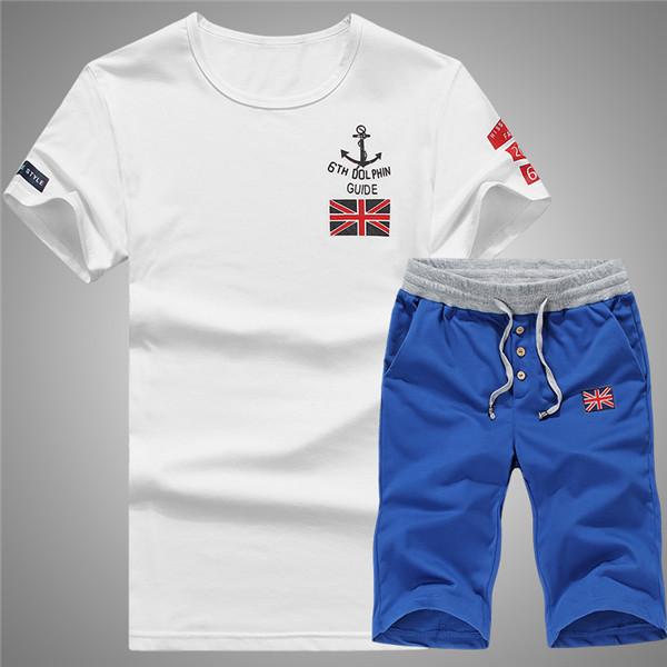 men set 2016 Summer Style Men's tracksuit short sleeve O-Neck tracksuits shorts Sets Sport Suit men suits casual LC-D3301(China (Mainland))