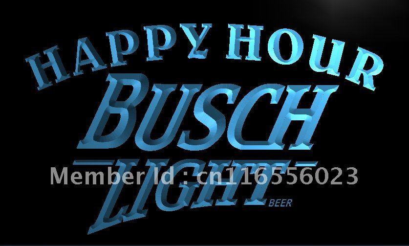 LA620 Busch Light Beer Happy Hour Bar LED Neon Light Sign