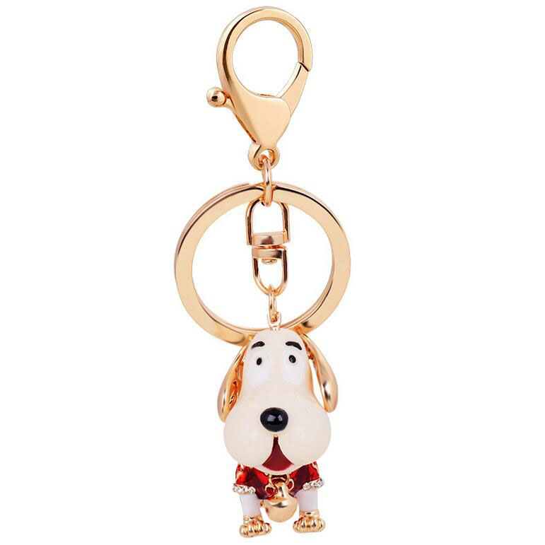 The new popular bag pendant cute dog zinc alloy Keychain multicolor green factory direct supply(China (Mainland))