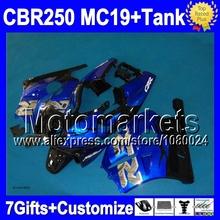 7gifts+Tank HONDA CBR250RR MC19 blue black CBR250 RR M917 CBR 250RR silvery 86 87 88 89 1986 1987 1988 1989 Fairing - Motomarkets store