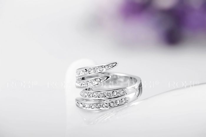 ROXI Christmas Gift rose gold/platinum plated ring,Austrian Crystals Ring Nickle free Antiallergic Factory prices