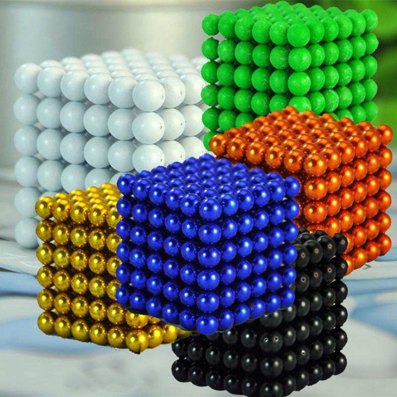 216pcs 5mm Multi-colored Neodymium Magnetic Balls Spheres Beads Magic Cube Magnets Puzzle Block Cube Magico Birthday Present(China (Mainland))