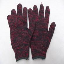 dark red Knitted Cotton Gardening Glove Work Protection Gloves
