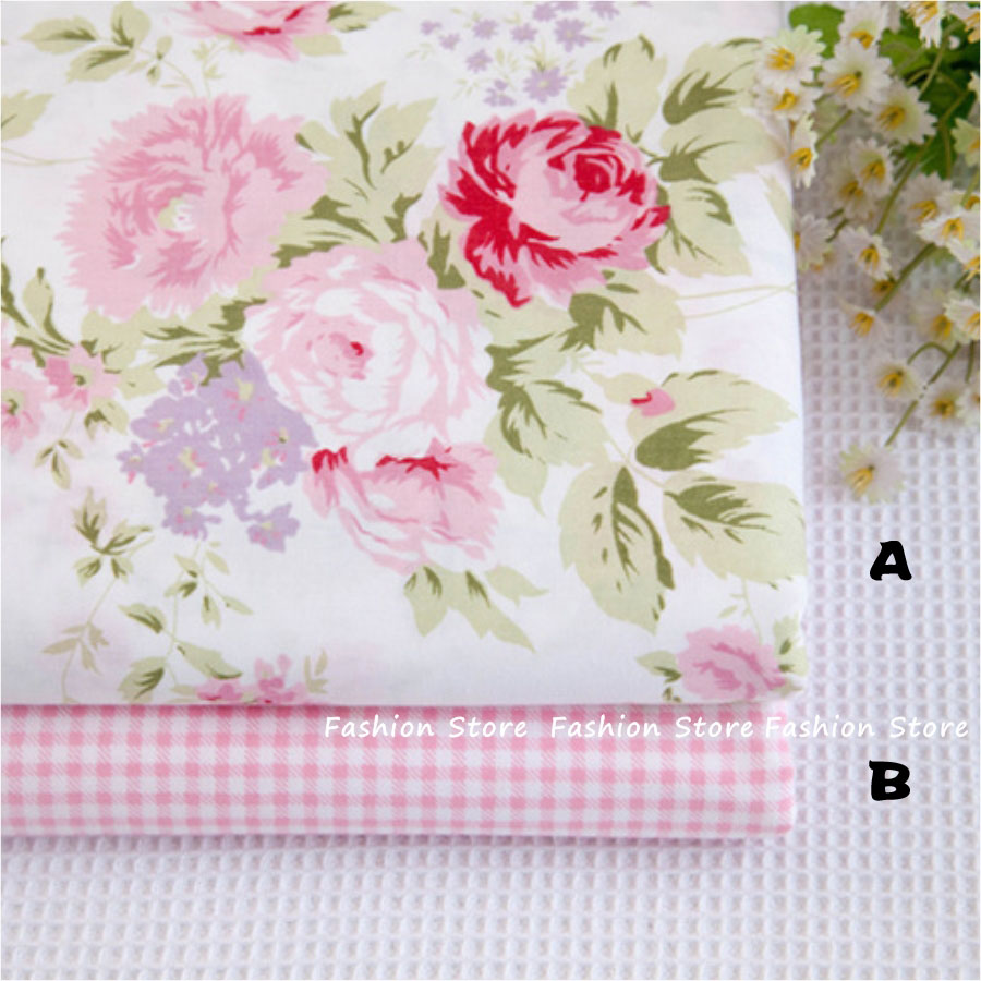40*50cm Pink bedding cloth 95% Cotton Fabric fat quarters for Sewing Tilda Doll Cloth DIY Quilting Patchwork Tissue Textile(China (Mainland))